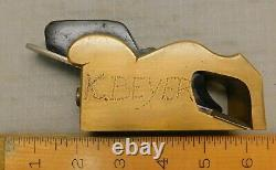 1 1/8 Mathieson Brass Bullnose Rabbet Plane Nice ANTIQUE Woodworking Tool
