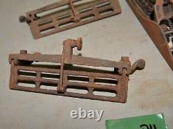 1 Stanley Bailey # 5 body & 3 antique plane fence collectible woodworking lot P4