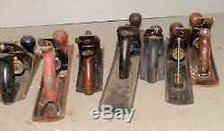 10 vintage hand planes Stanley & more collectible woodworking tool parts lot P1