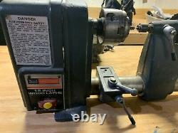 12 Craftsman Wood Lathe with Tools and Accessories