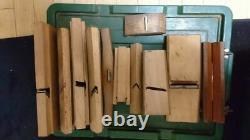 12 pcs SET Japanese Vintage Woodworking Carpentry Tools Plane Kanna Kebiki S3