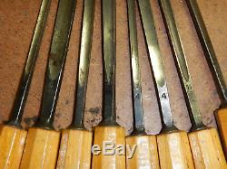 16 Vintage Otto Bergmann Berlin Carving Chisels Woodworking Tools