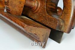 19th Century Sash Screwstem Plough Plow plane, antique carpenters woodwork