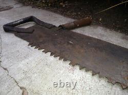 2 ANTIQUE 51 One Man Crosscut Logging Saw Lot Bucksaw Woodwork Tool