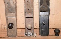 2 Stanley No 8 plane 1 # 7 antique woodworking tool lot parts repair collectible