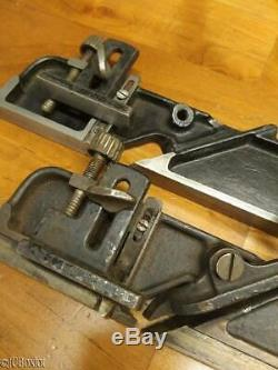 2 earlier type STANLEY TOOLS 39 DADO woodworking planes 1/2 3/8th
