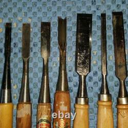 24 Pcs Set Japanese Vintage Woodworking Carpentry Tool Chisel Nomi Plane Kanna