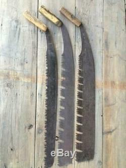 3 Pcs Set Japanese Vintage Woodworking Carpentry Tool Single Edged Saw Rare V5