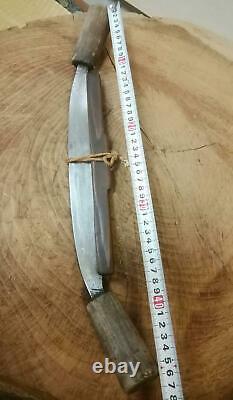 47 cm Japanese Vintage Woodworking Carpentry Tool Draw Knife Sen Old Furniture