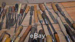 50 woodworking chisels collectible carving turning tool carving blacksmith lot 1