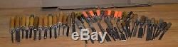 50 woodworking chisels collectible carving turning tools carving blacksmith lot