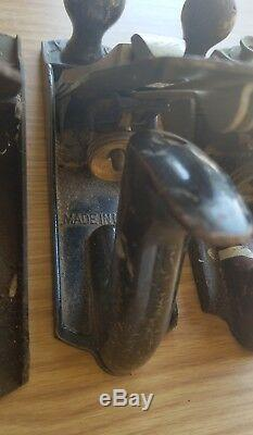 7pc Lot Vintage Wood Plane Stanley Bailey Woodworking Wood Hand Plane Tool