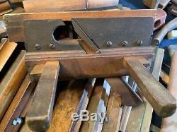 A Large Working Collection of 51+ Vintage Woodworking Tools Moulding Planes