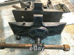 ANTIQUE EMMERT PATTERN MAKERS VISE K-2 UNIVERSAL WOODWORKING TOOL 14 x 5 Jaws