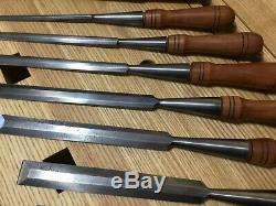 AWESOME JAMES SWAN SET! Woodworking Chisels Cast Steel Antique Vintage Socket