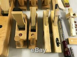 Amazing Set of Steiner (ECE or Ulmia) Wooden Woodworking Planes High Quality