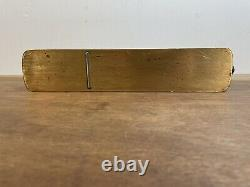 Antique 12 Brass & Rosewood Panel Plane Woodwork Hand Tool