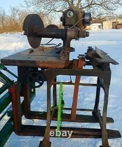 Antique 1923 Hutchinson Woodworking Beaver Machine Saw Drill Jointer belt drive