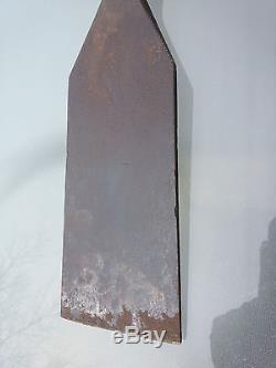 Antique 3 1/2 SLICK Lathe Skew Turning Chisel Wooden Handle WOOD WORKING TOOLS