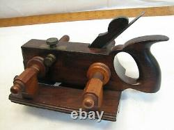 Antique Auburn Tool Co NY Rosewood Screw Arm Plow Plane Woodworking