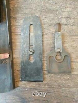 Antique Bed Rock Stanley Corrugated Bottom Plane No. 608 Woodworking Tools 24