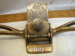 Antique Brass or Gun Metal Scraper Plane Shave Draw Knife Wood Working Tool