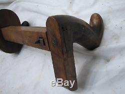 Antique Carpenter's Panel Slitter Gauge Woodworking Veneer Tool Brass/Wood Gage