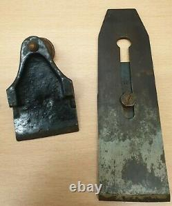 Antique Marples Type I Ivy Leaf Lever Cap Smoothing Plane Woodworking RARE