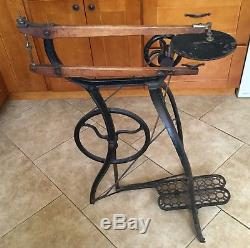 Antique New Rogers Cast Iron Treadle Scroll Saw, Woodworking, Peddle