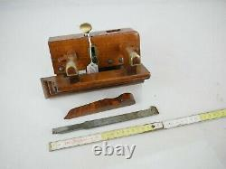 Antique Plough Plane John Moseley Son Adjustable Fence Plow Woodworking Tools