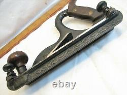 Antique Rare Metallic Plane Co Fillester Plow Plane Woodworking Tool