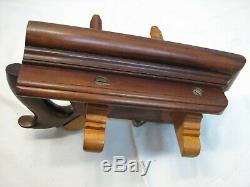 Antique Rosewood Screw Arm Plow Plane Woodworking Tool Brass Banded Nuts