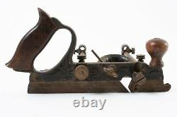 Antique Stanley 45 Combination Plane Combo Plow Woodworking Hand Tool Cast Iron