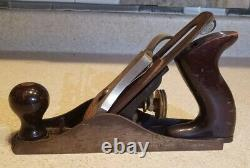 Antique Stanley Bailey No. 3 Smooth Plane type 19 old woodworking tools excellent