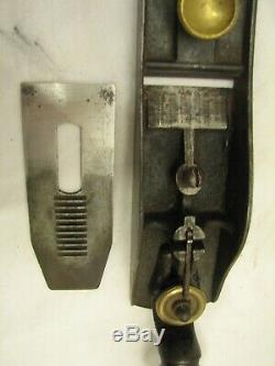 Antique Stanley no. 9-3/4 Block Plane 2-prong Ball Tail Woodworking Tool