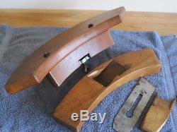Antique Vintage 2 Stamped D. R. Barton Cherry Coopers Woodworking Planes Tools