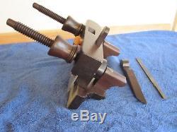 Antique Vintage Custom Hardwood Brass & Steel Plow Woodworking Plane