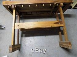 Antique Vintage Primitive Decor Woodworking Carpenters Bench Table