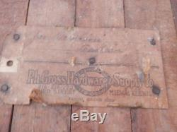 Antique Vintage Primitive Steampunk Decor Woodworking Carpenters Bench Table