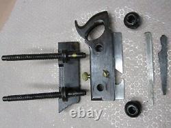 Antique Vintage Rosewood Brass & Steel Screw Arm Plow Woodworking Plane Tool