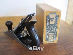 Antique Vintage Stanley No 4 Type 15 (1931-32) Near Mint Woodworking Plane & Box