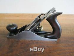 Antique Vintage Stanley No. 4 Type 5 (1885-1888) Smooth Woodworking Plane Tools