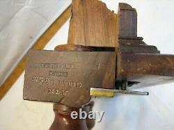 Antique Way and Sherman Rosewood Screw Arm Plow Plane Woodworking