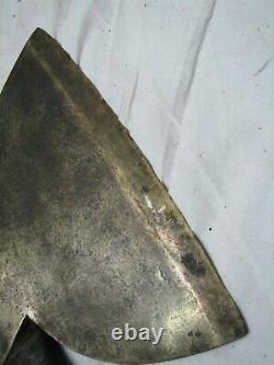 Antique Wm. Beatty & Son Broad Squaring Hewing Axe Lumber Woodworking Tool A
