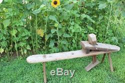 Antique Woodworking Bench Shaving Horse Draw Knife Stanley Tools Shave Vintage