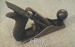 Antique c. 1905 Stanley No. 2 Smoothing Wood Plane Carpenter Woodworker 7 Long