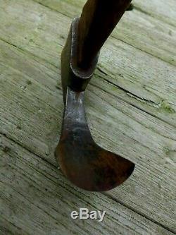 Antique carving carpenter adze woodworking tool handmade by blacksmiths rare D