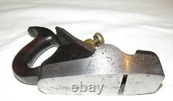 Antique dovetailed steel infill smoothing plane Buck old woodworking tool plane
