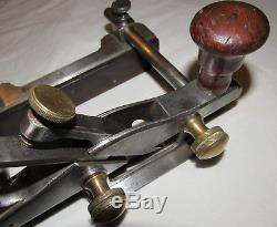 Antique metal plough plane unusual / rare / unique woodworking plane tool