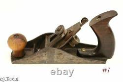Antique patented SANDUSKY METAL SMOOTHER PLANE corrugated woodworking tool